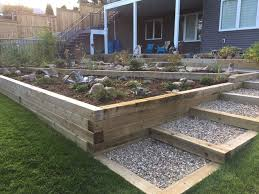wooden retaining wall traditional