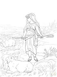 David And Goliath Coloring Sheet Pdf Page Pages For Preschoolers