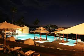 Maui Infinity Pool At Night Stock Photo Image of view open 22725026