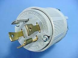 locking generator plug l14 30p male l1430 p 120 240v image is loading locking generator plug l14 30p male l1430 p