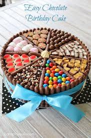 Easy Chocolate Birthday Cake Recipe Rizu Pinterest Cake