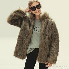 best women rabbit fur coat stand collar long sleeve warm faux fur overcoat fashion grant striped winter jackets factory whole cjg1015 under 49 85