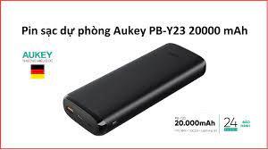 Pin sạc dự phòng Aukey PB-Y23 20000 mAh - YouTube