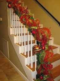... Banister Christmas Decorations Trees Rated Mesh Garland Oh What Fun  Blog Creating Trees Rated Mesh Garland Banister Christmas Decorations Best  Staircase ...