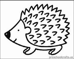 Hedgehog Coloring Pages For Kids Preschool And Kindergarten