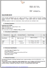 Experienced Resume for BA (Page 1)