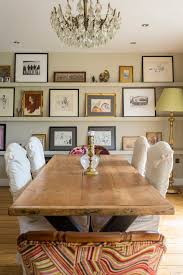 contemporary picture frames dining room rustic with gallery wall picture wall layout wooden dining table