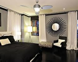 ... Contemporary Decoration Ideas Designs For Bedrooms : Extraordinary Ideas  With Black Comforter Platform Bed And White ...