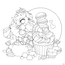 Small Picture Chibi Coloring Pages Chibi Cookie Girl nebulosabarcom