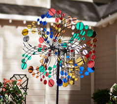 garden wind spinners with stakes uk designs