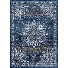new age sultana blue 8 ft x 10 ft traditional medallion