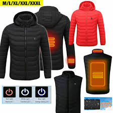 Details About Heating Usb Heater Hunting Vest Heated Jacket Coat Winter Clothes Men Thermal Bc