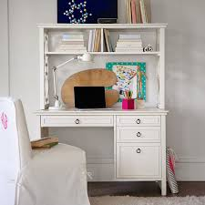 white desk with hutch. Elsie Desk Hutch Pbteen Throughout White With Drawers And