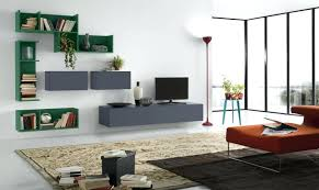 modern art furniture. M Gray Wooden Floating Cabinet Storage On The Wall As Stand Combined With Modern Art Bookshelves Deco Tv Furniture