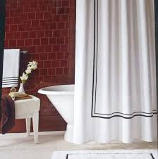 White Shower Curtain With Black Trim   UTILITARIAN FEATURES ...