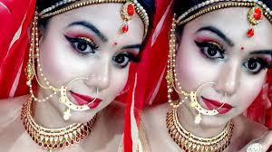 indian asian bridal makeup tutorial in hindi gold glittery cut crease eyes makeup lovebeautybee