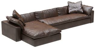 restoration hardware cloud leather sofa chaise sectional 3d model