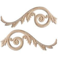wooden appliques for furniture. 11 5/8 Inch Embossed Applique Wooden Appliques For Furniture V