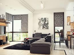Living Room Design: Plum White Taupe Living Room Scheme - Modern