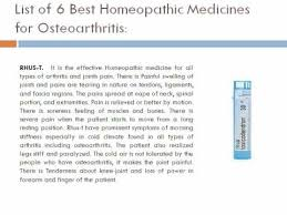 Osteoarthritis can completely cure a proper homeopathy medicines ...