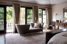 View In Gallery Sliding Doors Set Wooden Frame Along With Gorgeous  Curtains For A Modern Bedroom Decoist
