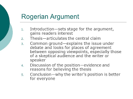 the structures of various arguments ppt video online  5 rogerian argument
