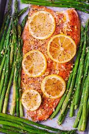 baked rainbow trout with lemon black