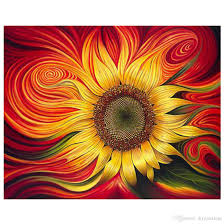 diy sunflowers oil painting on canvas with or without wooden framed paint by numbers kits with acrylic pigments brushes for s beginners paint by