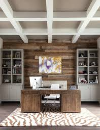 art for home office. Wood Wall Ideas Office Accent Home Transitional With Beamed Ceiling Desk Chair Art Retaining For