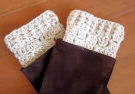 Free Crochet Boot Cuff Patterns Enchanting Cute Boot Cuffs Hunger Games Knits The Frugal Crafter Blog