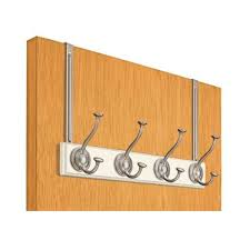 Behind The Door Coat Rack Meridian Over the Door Coat Rack White in Over the Door Hooks 49