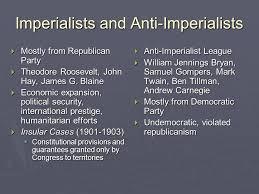 Imperialists Vs Anti Imperialists Venn Diagram U S Imperialism And World War I Unit Vc Ap U S History