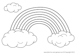 Small Picture Rainbow Coloring Pages