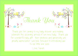 Baby Gift Thank You Note Baby Gift Card Wording Baby Shower Gift Card Ideas Gift Card Ideas