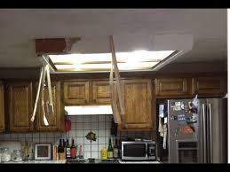 kitchen fluorescent lighting. Simple Kitchen How To Remove Fluorescent Ceiling Light Box YouTube Throughout Kitchen  Remodel 4 With Lighting