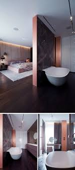 Schlafzimmer Eigenes Bad Raumteiler Kupfer Akzente Innendesign