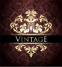 ornate vintage golden frame backgrounds vector 01