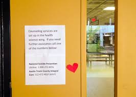 high school classroom door. A Sign On Classroom Door At Lanier High School, Urging Other Students To Seek Counseling After Student Shot And Killed Himself There This Week. School N