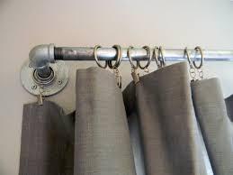 contemporary curtain rods diy west elm curtain rod striped curtains
