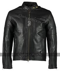 mens daytona black leather jacket