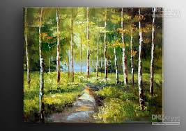 2018 hand painted oil wall art jungle road landscape oil paintings on canvas 16x16inch mixorde framed from bestart 16 19 dhgate com