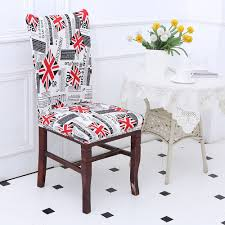 removable union jack pattern stretch elastic chair cover colorful