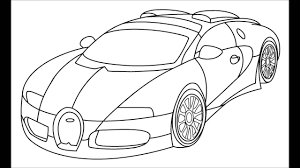 How to draw a bugatti veyron step by step for kids