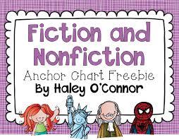 Fiction Vs Nonfiction Anchor Chart Nonfiction And Fiction Anchor Chart Freebies Teaching With