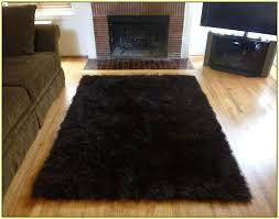 black faux fur carpet home and furniture ideas fabulous dark brown area rug on re reflections
