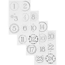 Christmas Advent Calendar Star Tags Advent Number Tags 2 99