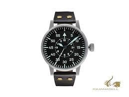 Black Iguana - Laco Uk Watch Sell Automatic Leathe Mm 55 Pilot Replica B Original