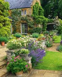 Small Picture Cottage garden plants frame this curvaceous lawn and sensational