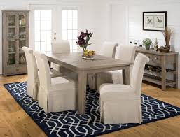slater mill pine slipcover skirted parson chair with linen look belfort furniture dining side chair