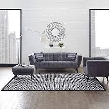 Gray Living Room Design Gorgeous Amazon Modway R448B448 Freydis Greek Key Area Rug 48X48